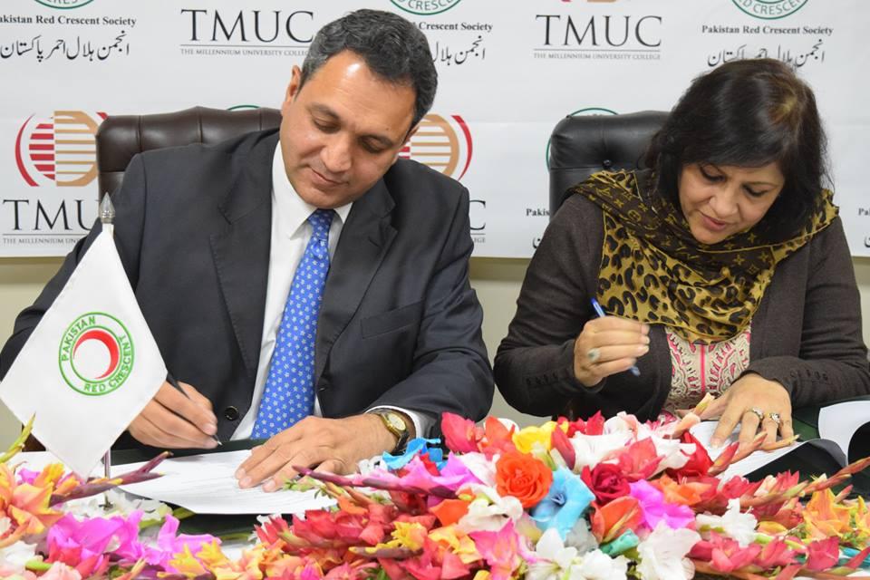 TMUC, PRCS sign MoU to promote volunteerism
