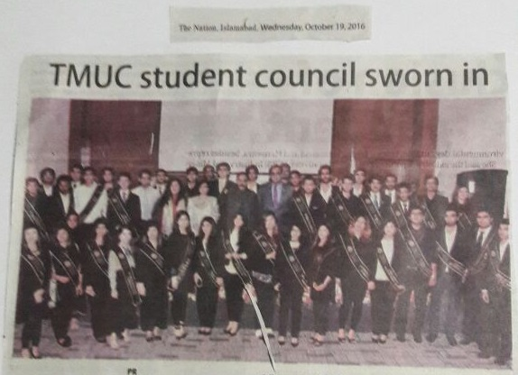 TMUC student council takes oath