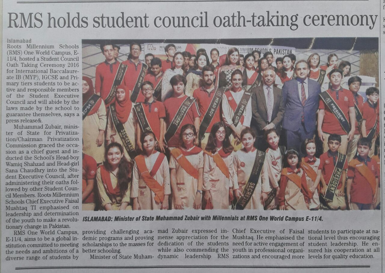 RMS holds student council oath-taking ceremony